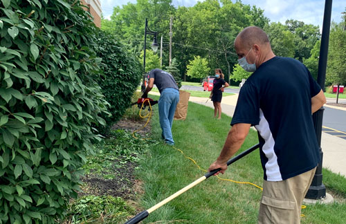 Serving Families by Doing Yardwork